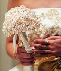 Идея свадебного букета из бусин