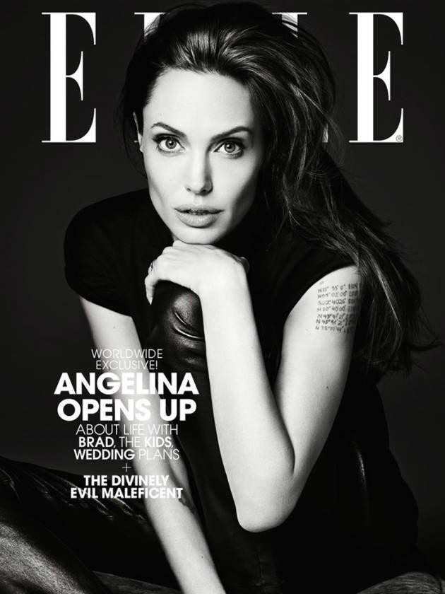 Анджелина Джоли на обложке журнала Elle
