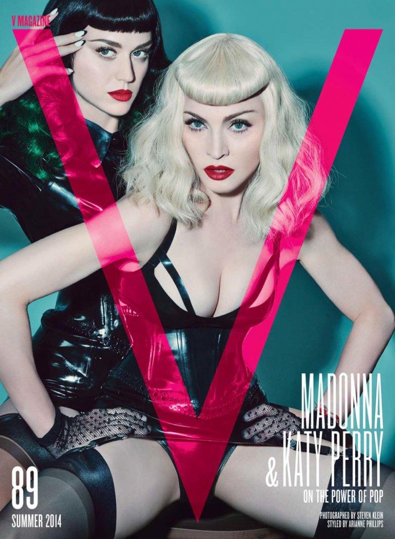 Мадонна и Кэти Перри на обложке V Magazine