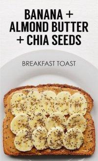 Идея для завтрака: тост с бананом