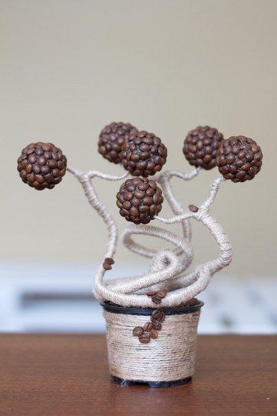 Кофейное дерево для декора интерьера