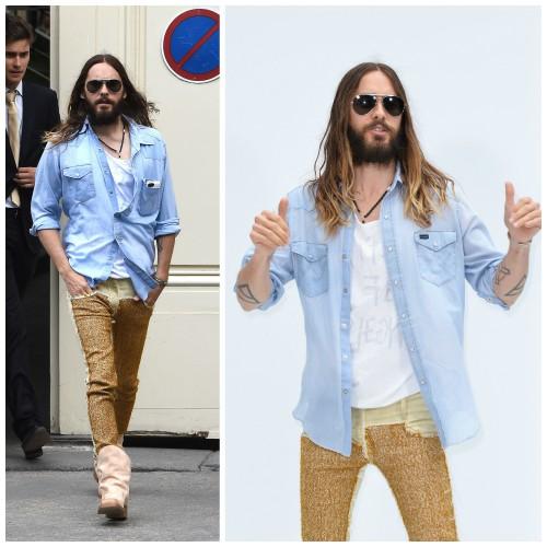 Джаред Лето разгуливает по Парижу в женских брюках