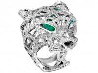 Бриллиантовое кольцо-пантера в коллекции Panthère de Cartier