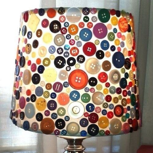 Идея для украшения настольной лампы
