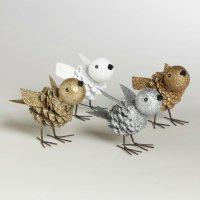 Птицы из сосновых шишек