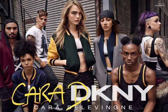 Кара Делевинь подготовила капсульную коллекцию для DKNY