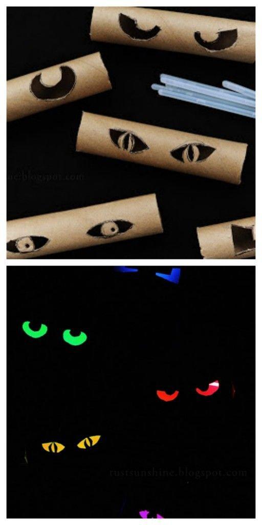 Пугающие глаза на Хэллоуин