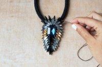 Ожерелье на основе фетра