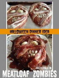 Блюда на Хэллоуин: голова зомби
