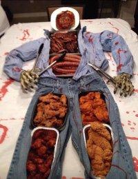 Идея оформления стола на Хэллоуин