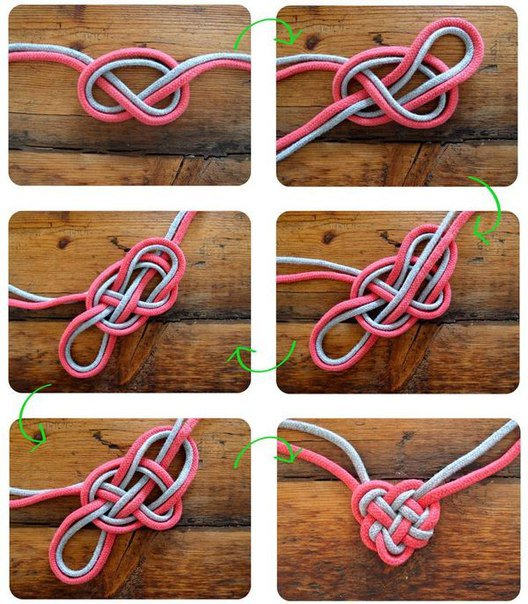 Как сплести сердечко из веревок