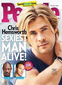 Крис Хемсворт назван самым сексуальным мужчиной