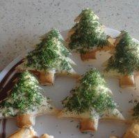Новогодние тарталетки «Елки-палки»