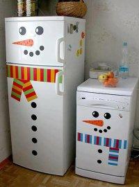 Снеговики для украшения дома к Новому году