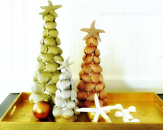 Новогодние елочки в морском стиле