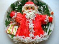 Новогодний салат «Дед Мороз»