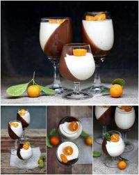 Апельсиново-шоколадная панна котта