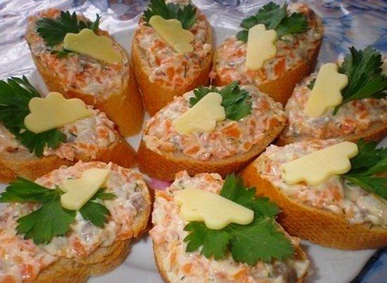 Бутерброды «Ложная икорка»