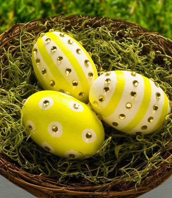 Идея декора яиц к Пасхе