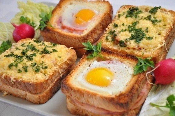 Очень вкусные и очень необычные бутерброды на завтрак