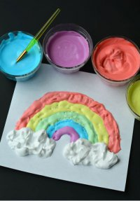 Как сделать объемные краски для творчества