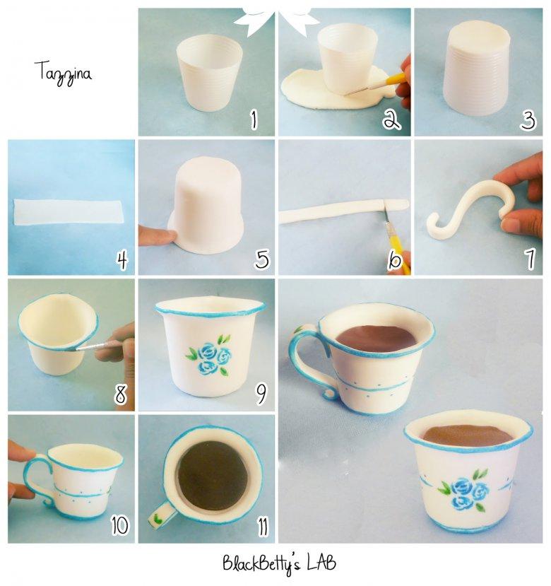 Чашечка из мастики