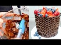 Простой способ украшения торта шоколадом