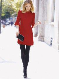 Фаворит зимы 2015-2016: красное платье