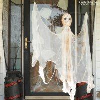 Привидение из марли на Хэллоуин