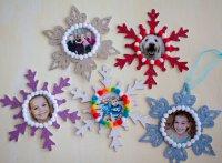 Новогодние снежинки с портретами