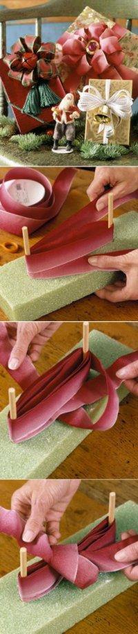 Как завязать пышный бант для упаковки подарков