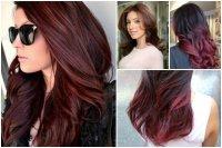 Новый тренд в окрашивании волос: вишневое бомбре