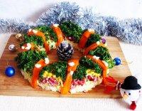 Салат «Рождественский венок» на новогодний стол