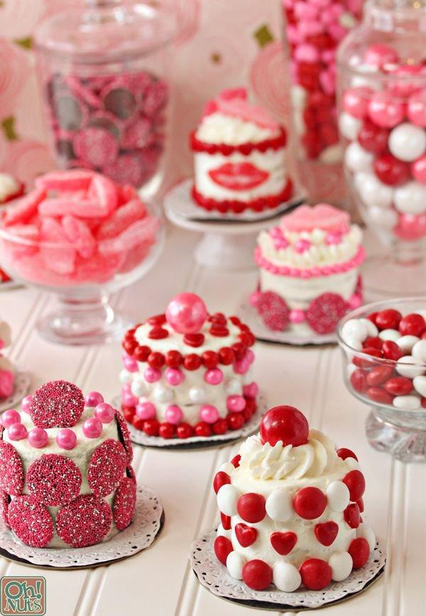 Простые мини-тортики на День святого Валентина