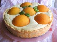 Творожный пирог с персиками в мультиварке