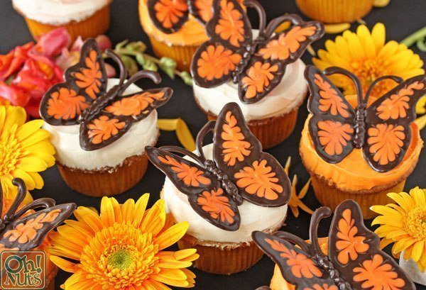 Бабочки из шоколада для украшения тортов и капкейков