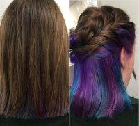 Тренд окрашивания волос: радужные корни