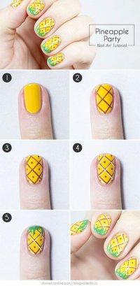 Сочная идея для летнего маникюра: ананас